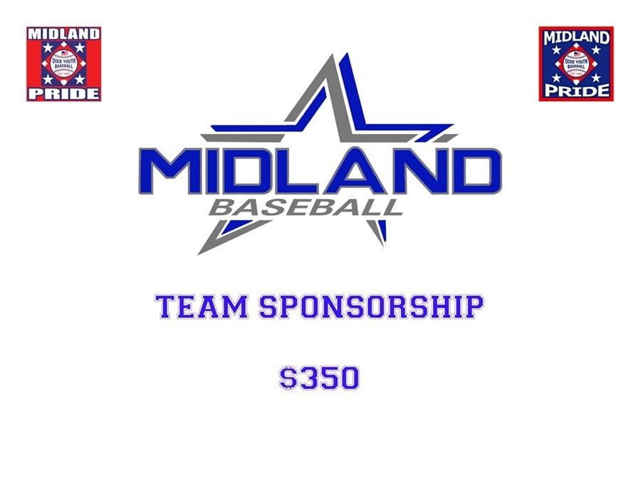 2017 Midland Dixie Youth Baseball Team Sponsorship