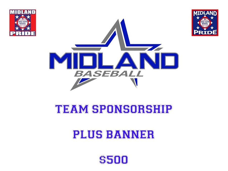 2017 Midland Dixie Youth Baseball Team Sponsorship Plus Banner